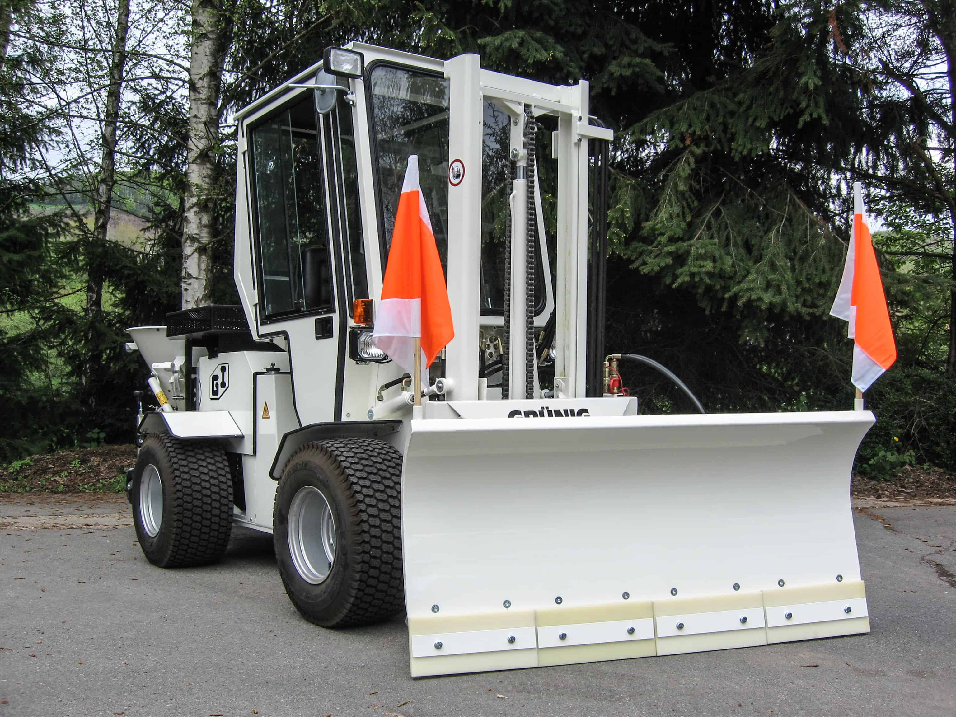 Federklappenräumschild Uni-Truck