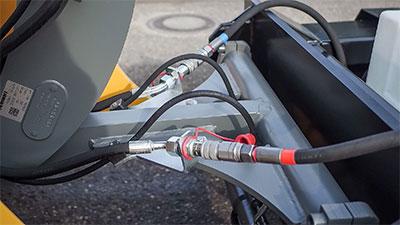 Hydraulischer Antrieb durch das Hydrauliksystems des Trägerfahrzeugs